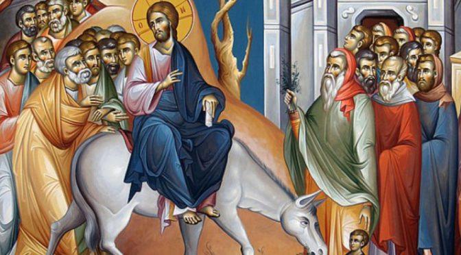 Неделя 6-я Великого поста, ваий. Вход Господень в Иерусалим