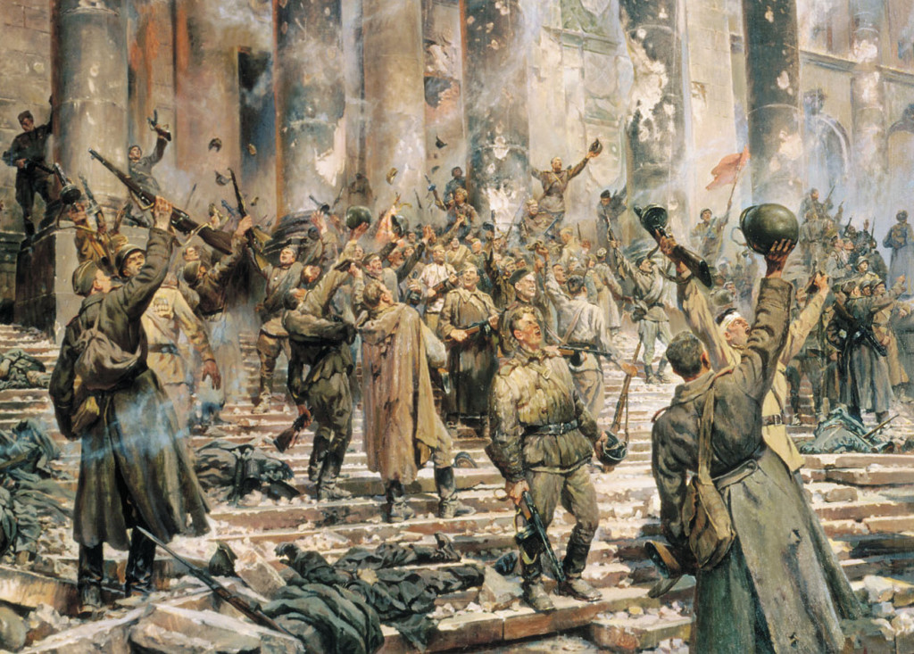 Победа 1945 (фрагмент). Художник: П. Кривоногов. 1949