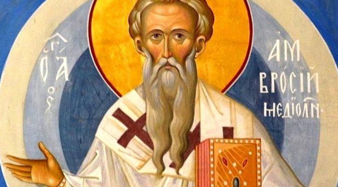 Неделя 28-я по Пятидесятнице. Святителя Амвросия, епископа Медиоланского